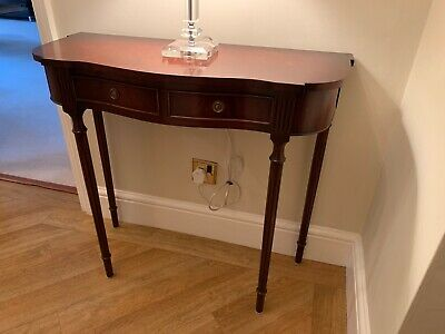 Bevan Funnell Reprodux Georgian Antique Style Flame Mahogany Hall Console Table Fixing Prices According To Quality Of Products Tables Home, Furniture & Diy