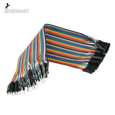 40PCS Dupont wire jumpercables 20cm 2.54MM male to female 1P-1P For Arduino SE