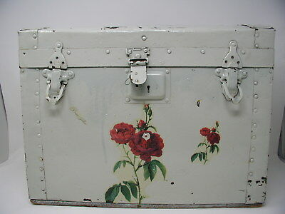 Antique Small Dome/Hump Back Steamer Trunk Chest Store Window Home Display RARE!