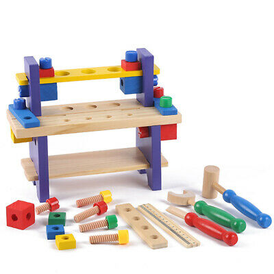 1pc Wooden Toy Interesting Practical Workbench Educational Toy for Children Kids