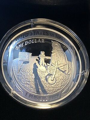 2019 Apollo 11 50th Anniversary 5 oz Proof Silver Dollar - IN HAND  SHIPS TODAY!
