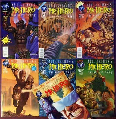 Mr Hero Newmatic Man #1 to #7 (Tekno Comix 1995) Neil Gaiman. 7 x issues