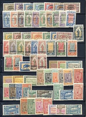 Cameroun French Africa mlh collection with some long complete sets, 3 1/2 pages