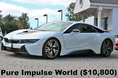 "2015 BMW i8 Pure Impulse World 2015 i8 Pure Impulse World Crystal White with BMW i Blue 20"" Wheels Like New"