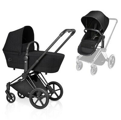 Cybex Priam 2 In 1 Seat With All Terrain Chassis Happy Black