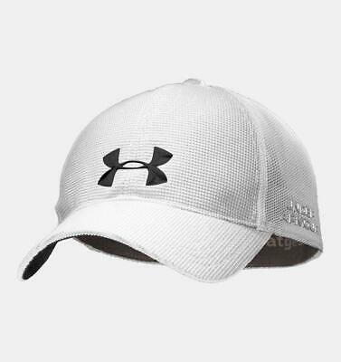 0ad738d3f25 Under Armour UA Mens Golf Hat Cap Fitted L XL White 1236826 FAST SHIP!