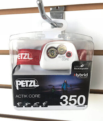 NEW 2018 Petzl ACTIK CORE 350 Lumens LED Headlamp USB Rechargeable Coral