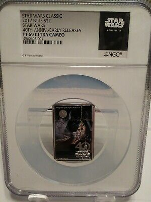 2017 Niue Star Wars Posters - New Hope 40th Anniversary 1oz Silver NGC PF69 Coin