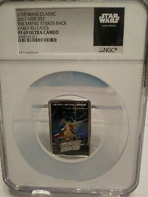 2017 Niue Star Wars Posters - Empire Strikes Back 1oz Silver NGC PF69 Coin