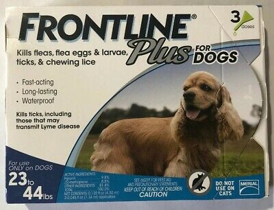 Merial Frontline Plus Flea and Tick Control 23 to 44-Pound Dogs and Puppies NEW