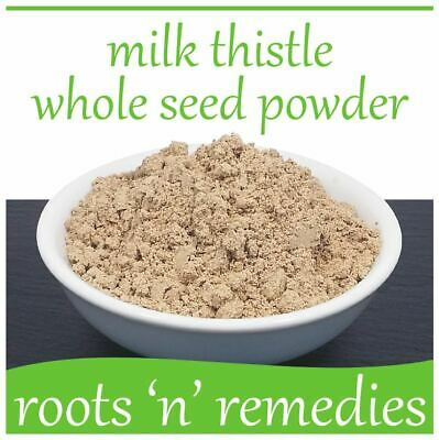 Milk Thistle Whole Seed Powder - 50g - High Strength & Pure.