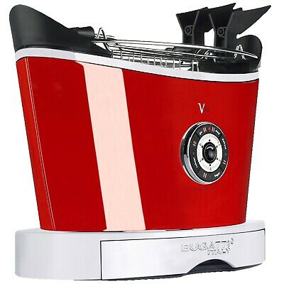 Bugatti Volo 2-Slice Toaster with Motorized Toast Lift System-Red