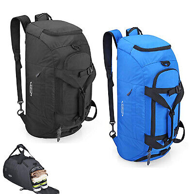 3-Way Sport Gym Duffle Backpack Luggage Shoulder Bag with Shoe Compartment 40L