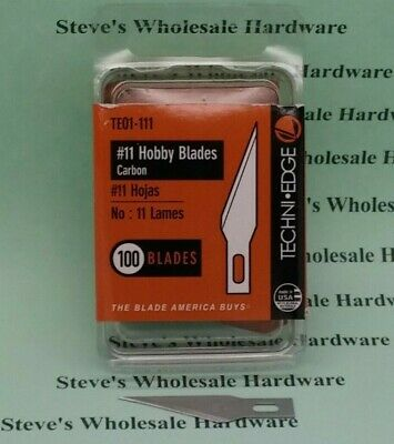 #11 Hobby Blades 100/pk Techniedge Made In USA X-acto Style Pick Your Quantity