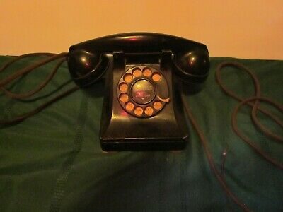 Heavy Old Phone Rotary Dial Early Heavy Cords Western Electric Co