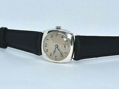 CYMA Vintage (1930) Military style men's watch. Swiss Made. Silver case. Running