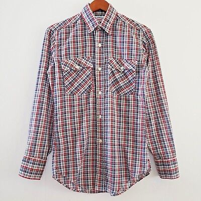 Levis Mens Casual Shirt Long Sleeves Light Weight Checkered Red Small