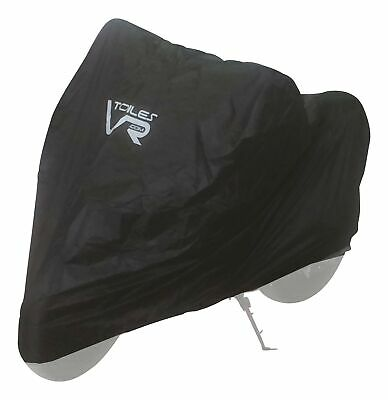 Motorcycle Black Waterproof Cover (up-104 Inch) Four Season Outdoor Weather P...