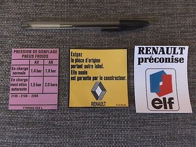kit autocollants Renault 4 L - version 1