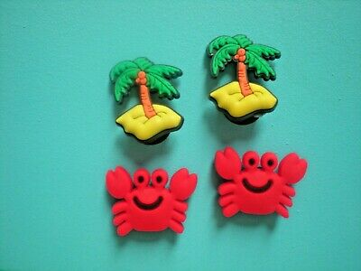 Jibbitz Croc Clog Shoe Charm Button Plug Accessories Beach Palm Trees Red Crabs