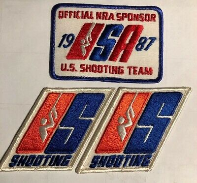 3 Patches 1987 US Shooting Team Patches Official NRA Sponsor Sleeve