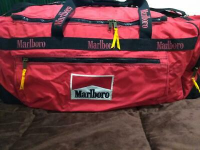 Giant Marlboro Red Rolling Luggage Duffle Bag with Wheels   Strap XL -  Brand NEW d2c460ee97