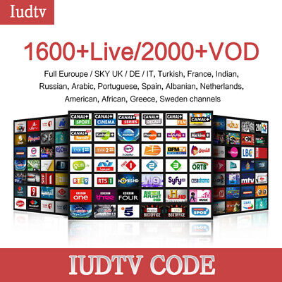 Smart IPTV Subscription Tv Android 3, 6, 12 Months USA UK Europe Arabic