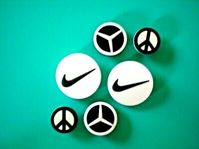 Clog Shoe Charm Button Plug Accessories Sports Symbol Emblem Peace sign