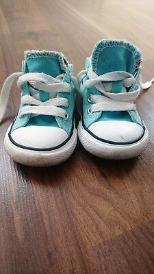 2fcaf9e1c7e1 Genuine Converse All Star Turquiose Boys Infants Shoes Low Trainers Size Uk  4