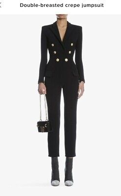 d2a3b5f8403 Balmain double Breasted Jumpsuit Size FR 34