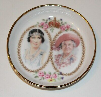 Royal Albert Bone China.  Queen Mother Pin Tray. 100th Year Commemorative.2000.