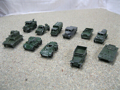 MATCHBOX TOYS, Job Lot of  11 CLASSIC ARMY VEHICLES in playworn condition