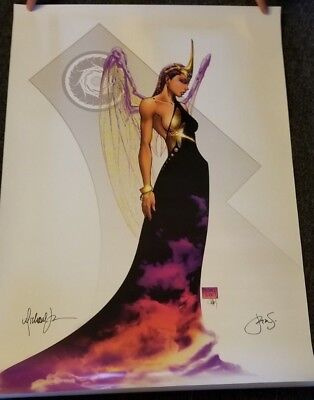 SOULFIRE GRACE MICHAEL TURNER 24x36 POSTER 2X SIGNED Fathom 2004 OOP NEW ASPEN