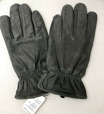 ILI Black Suede Men's Fitted Gloves Size M