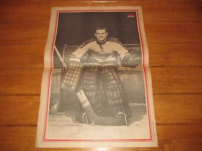 1970 Vintage Hockey Poster of PHIL MYRE RC Montreal Canadiens 15.5X22.5in Photo