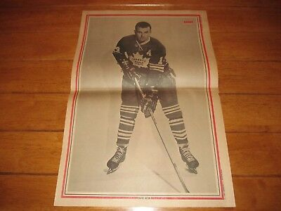 1969 Vintage Hockey Poster of DAVE KEON Toronto Maple Leafs 15.5X22.5in. Photo