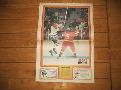 1973 Vintage Hockey Poster of PETE MAHOVLICH Montreal Canadiens 15.5X22.5in.