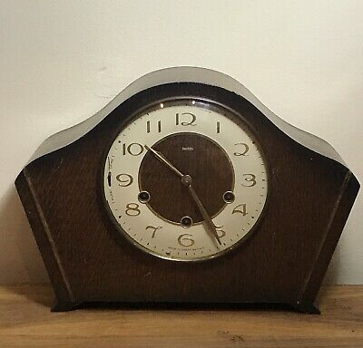 Vintage Smiths Art Deco Style Mantel Chiming Clock Repair Project Collectible