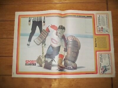 1973 Vintage Hockey Poster of MICHEL PLASSE Montreal Canadiens 15.5X22.5in.