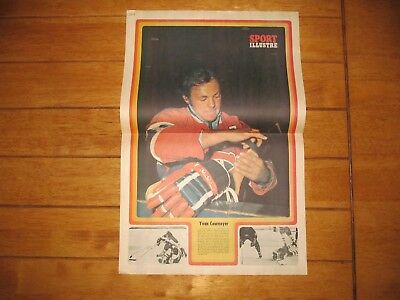 1973 Vintage Hockey Poster of YVAN COURNOYER Montreal Canadiens 15.5X22.5in.