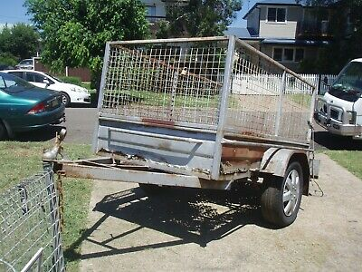 6X4 Box Trailer With Cage No Rego ,