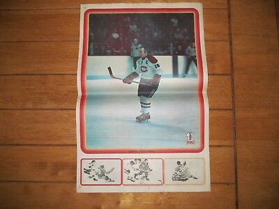 1972 Vintage Hockey Poster of HENRI RICHARD Montreal Canadiens 15.5X22.5in.
