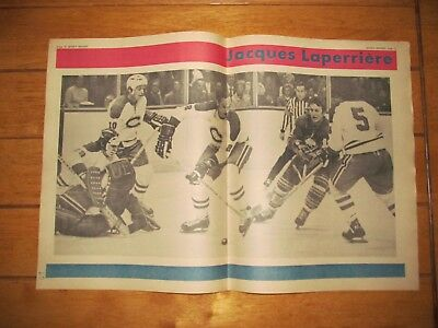 1972 Vintage Hockey Poster of JACQUES LAPERRIERE Montreal Canadiens 15.5X22.5in.