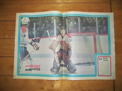 1973 Vintage Hockey Poster of WAYNE THOMAS Montreal Canadiens 15.5X22.5in. Photo