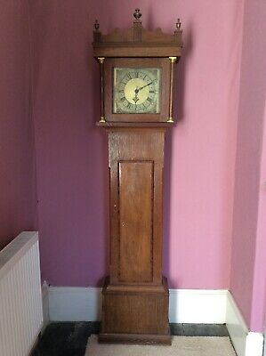 Early Antique Oak Circa 1750 Long Case Grandfather Clock By John Steel