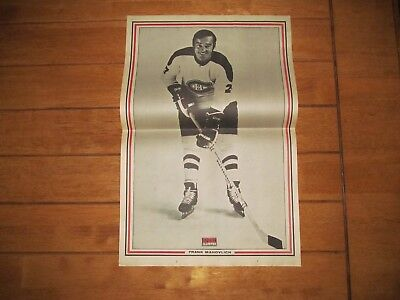 1971 Vintage Hockey Poster of FRANK MAHOVLICH Montreal Canadiens 15.5X22.5 Photo