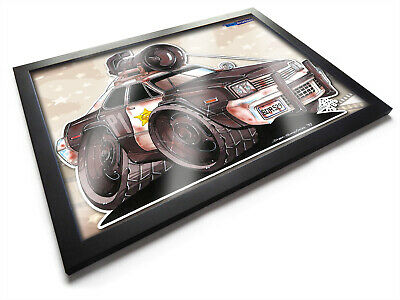 Koolart Cartoon Blues Brothers Bluesmobile Movie Car A3 Wooden Framed Picture