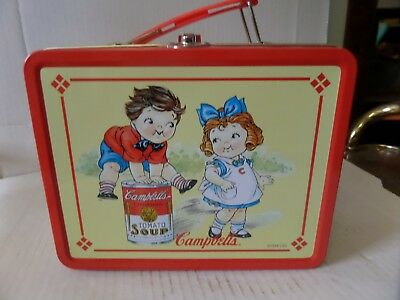 Vintage Campbells Tomato Soup 1998 Vintage Collectible Metal Lunch Box Red Used