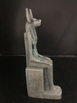 Rare Ancient Egyptian Seated Anubis Statue(c.3100-c.2890 BC)