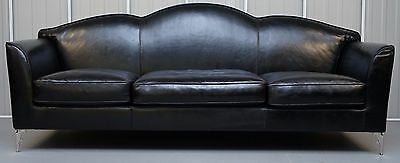 1 Of 2 £14,000 Ipe Cavalli Nella Vetrina Made In Italy Black Leather Sofas Nice